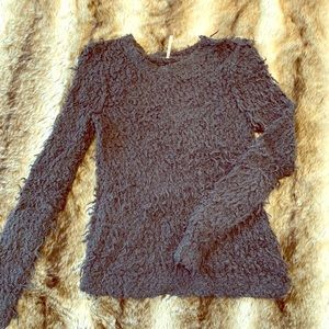 Free people fuzzy sweater